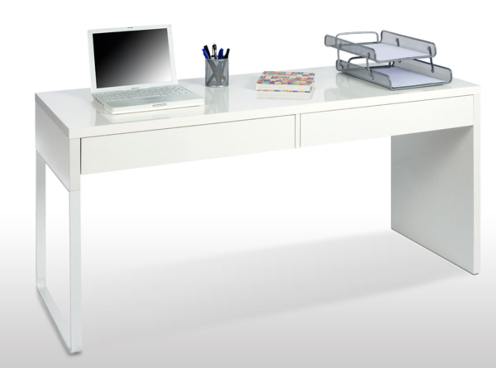 bureau touch blanc brillant. Black Bedroom Furniture Sets. Home Design Ideas