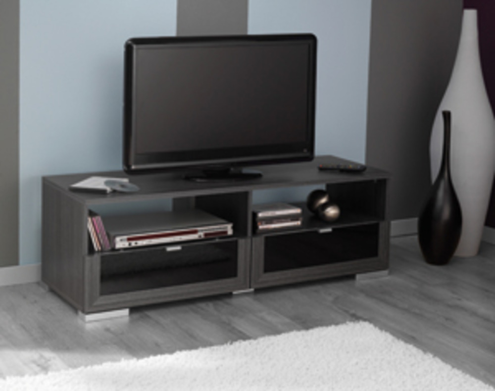 meuble tv gris cendre conceptions de maison. Black Bedroom Furniture Sets. Home Design Ideas
