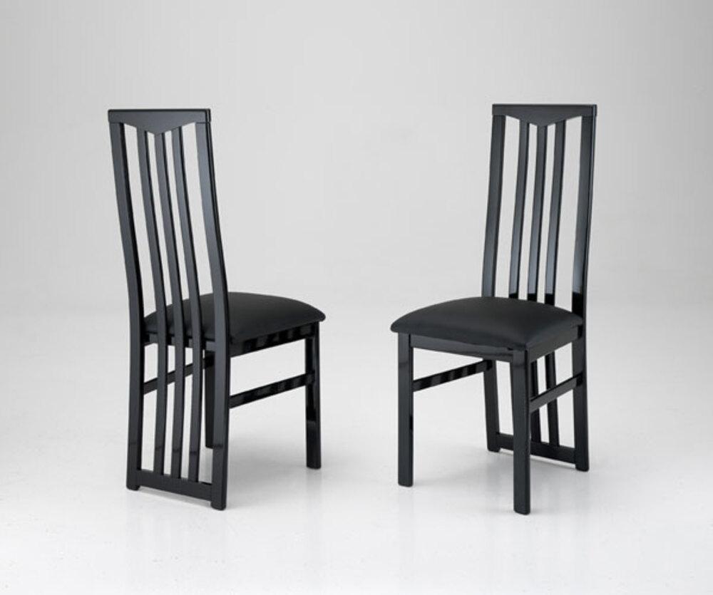 Chaise sejour carla noir for Chaise sejour moderne