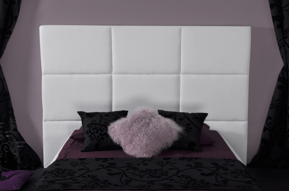 t te de lit capitonnee skin blanc. Black Bedroom Furniture Sets. Home Design Ideas
