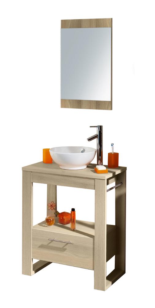 ensemble bloc en 70 salle de bain acacia. Black Bedroom Furniture Sets. Home Design Ideas
