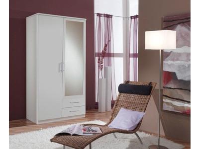 Armoire 2 portes dont 1 miroir+2 tiroirs Oskar
