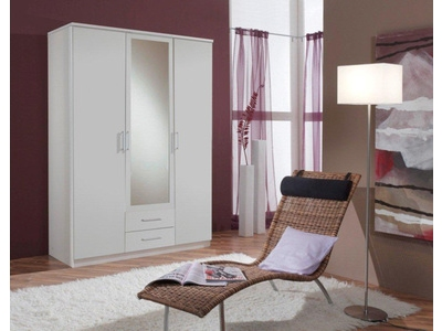 Armoire 3 portes dont 1 miroir+2 tiroirs Oskar