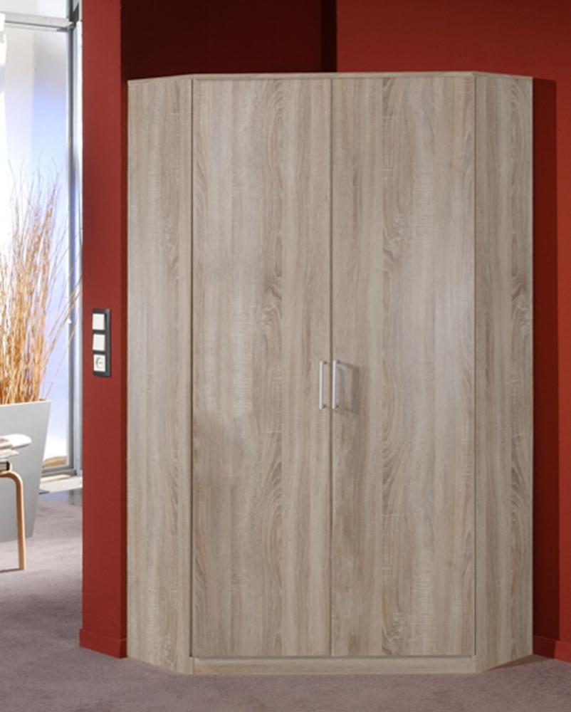 Armoire d 39 angle 2 portes oskar chene for Armoire d angle alinea