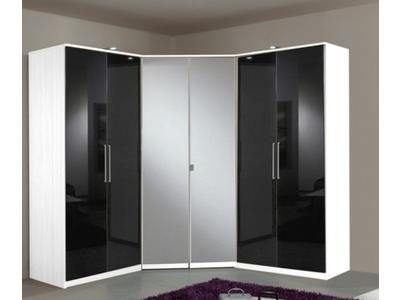 Armoire 4 portes dont 2 miroirs+2 tiroirs Gamma