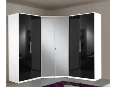 Armoire 4 portes dont 2 miroirs+2 tiroirs Greven