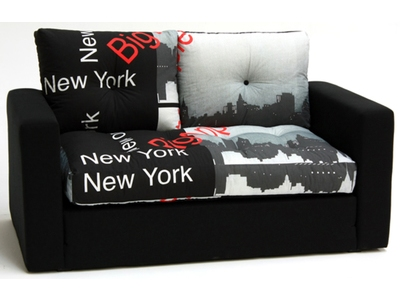 Canape lit deplimousse first tissu new york noir for Housse clic clac new york