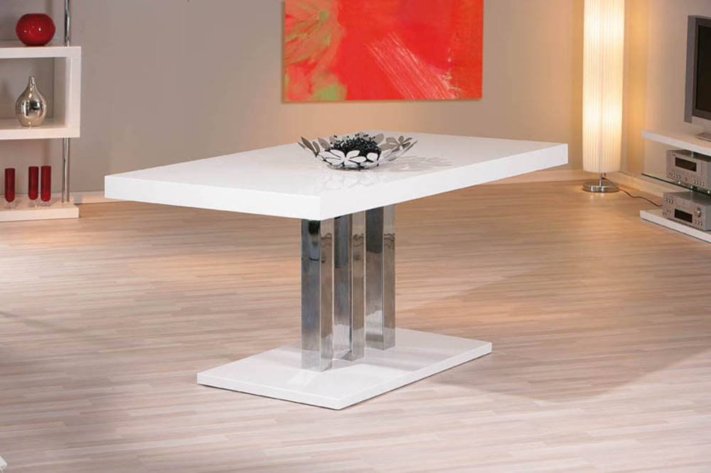 table de repas palazzo blanc. Black Bedroom Furniture Sets. Home Design Ideas