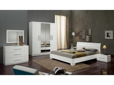 Chevet 1 tiroir Gloria blanc