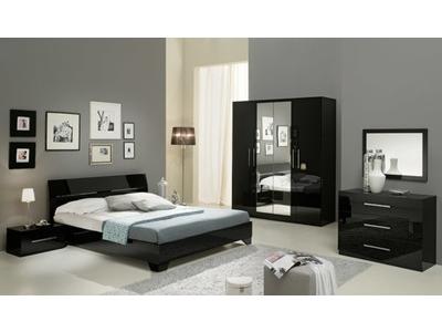 Chevet 1 tiroir Gloria noir