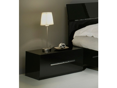 chevet tiroir gloria noir with chambre a coucher complete. Black Bedroom Furniture Sets. Home Design Ideas