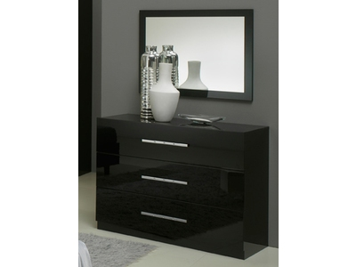 Commode 3 tiroirs Gloria noir
