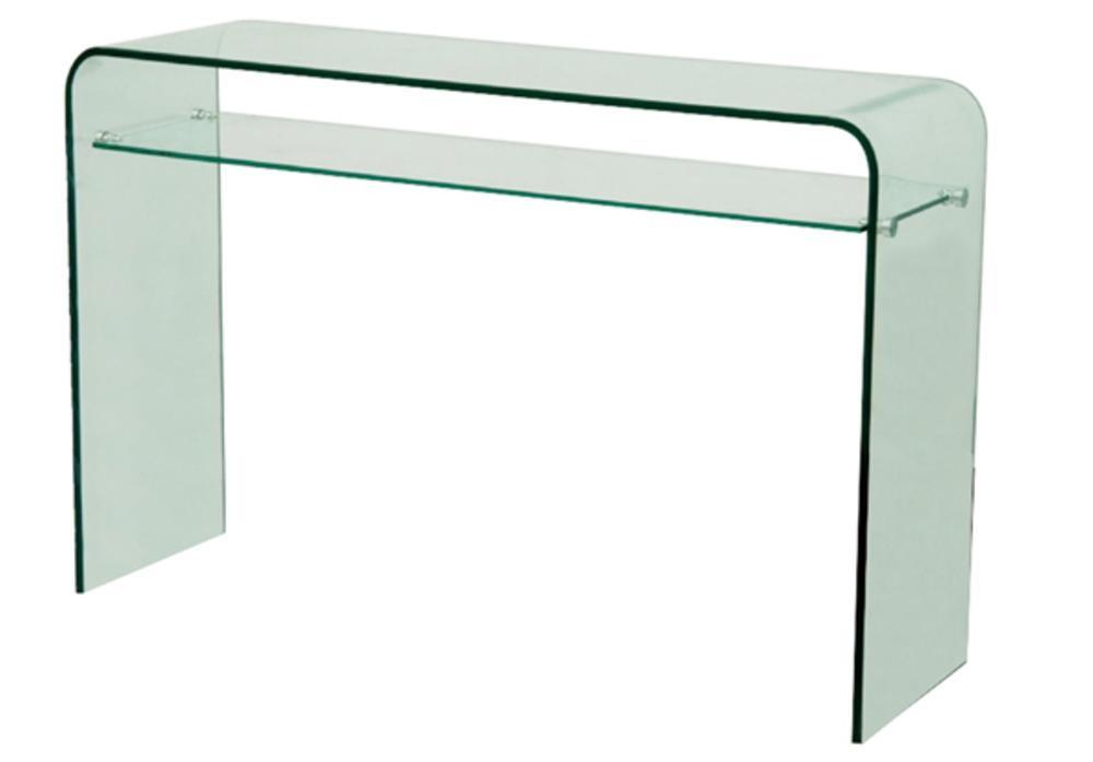 Console vera 2 translucide - Meuble bureau en verre ...