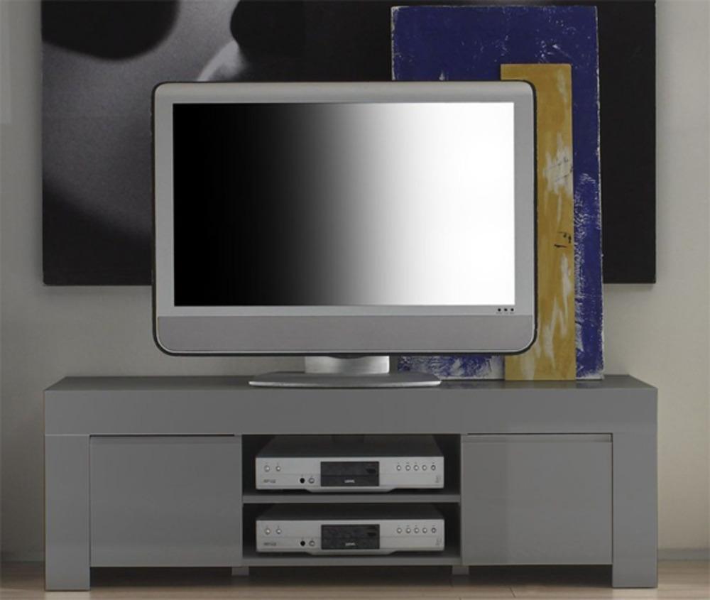 Meuble tv amalfi blanc for Meuble tv hifi design