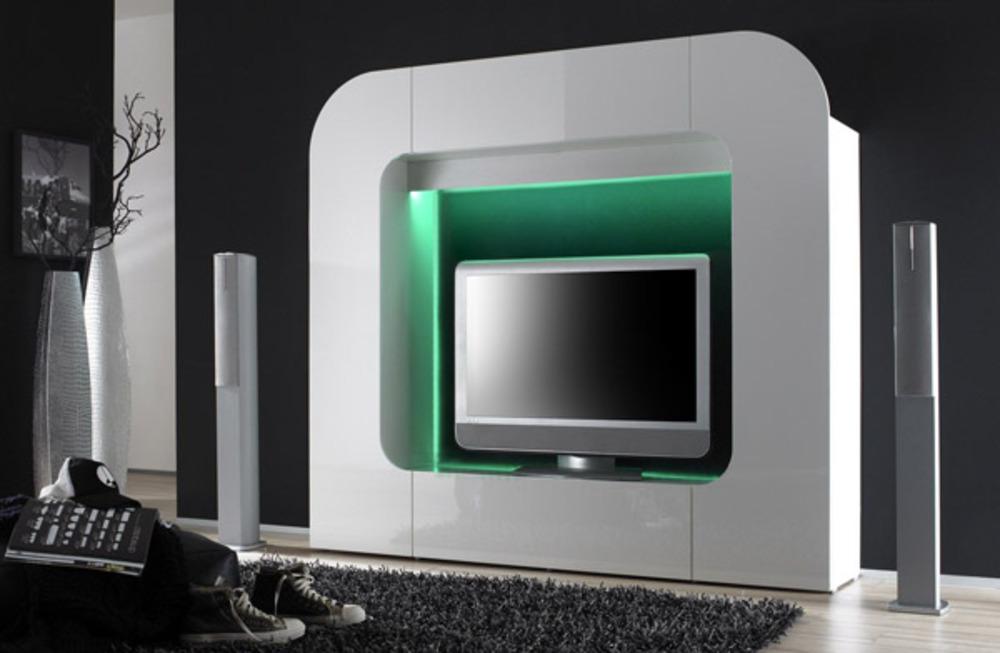 Meuble Tv De Coin : Pin Meuble Tv Blanc Laque De Coin On Pinterest