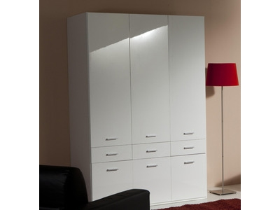 armoire 3 portes 6 tiroirs versa. Black Bedroom Furniture Sets. Home Design Ideas