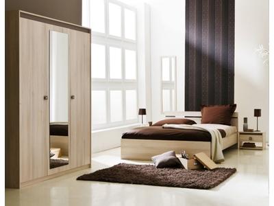Armoire 3 portes + miroir Francesca
