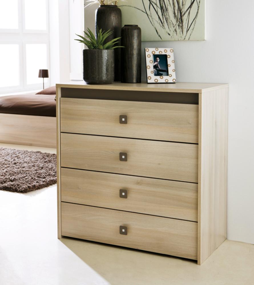 commode 4 tiroirs francesca acacia. Black Bedroom Furniture Sets. Home Design Ideas
