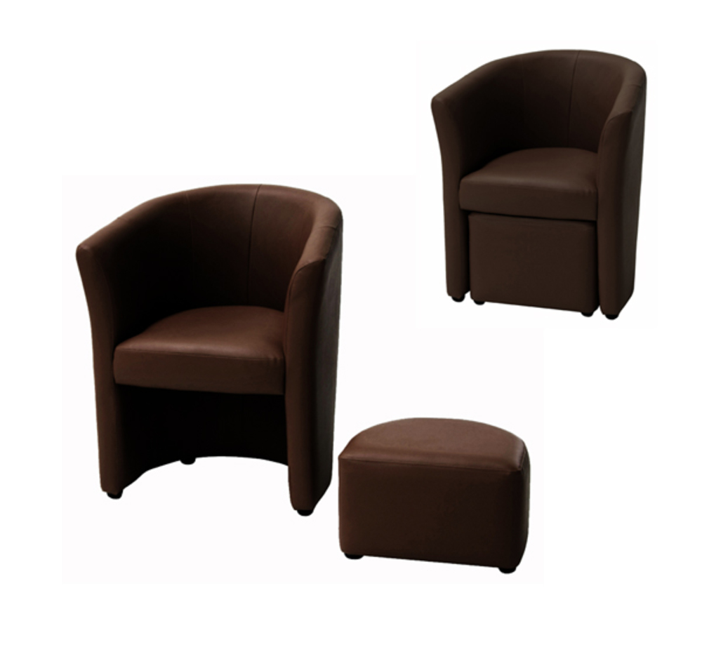 fauteuil pouf arcade chocolat. Black Bedroom Furniture Sets. Home Design Ideas