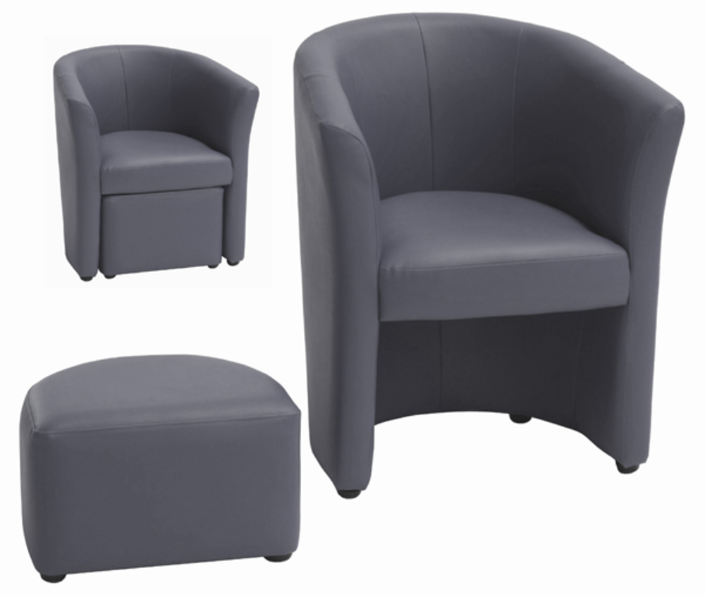 fauteuil pouf arcade anthracite. Black Bedroom Furniture Sets. Home Design Ideas