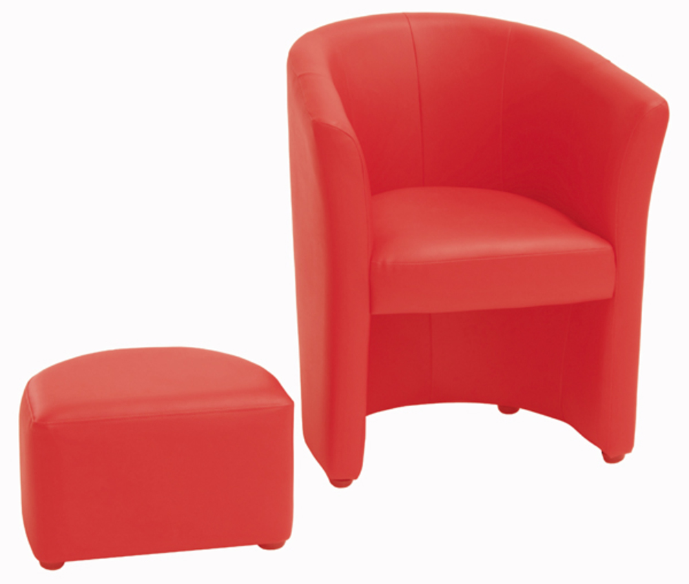 fauteuil pouf arcade rouge. Black Bedroom Furniture Sets. Home Design Ideas