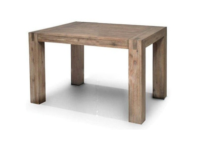 Table repas carree+ allonge de 40cm