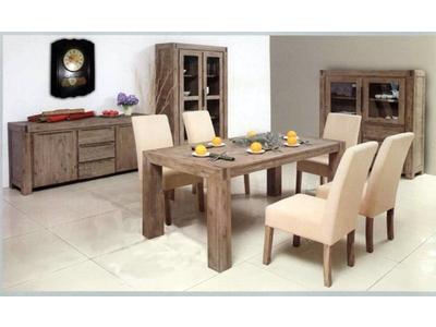Table repas carree avec allonge de 50cm Hamburg