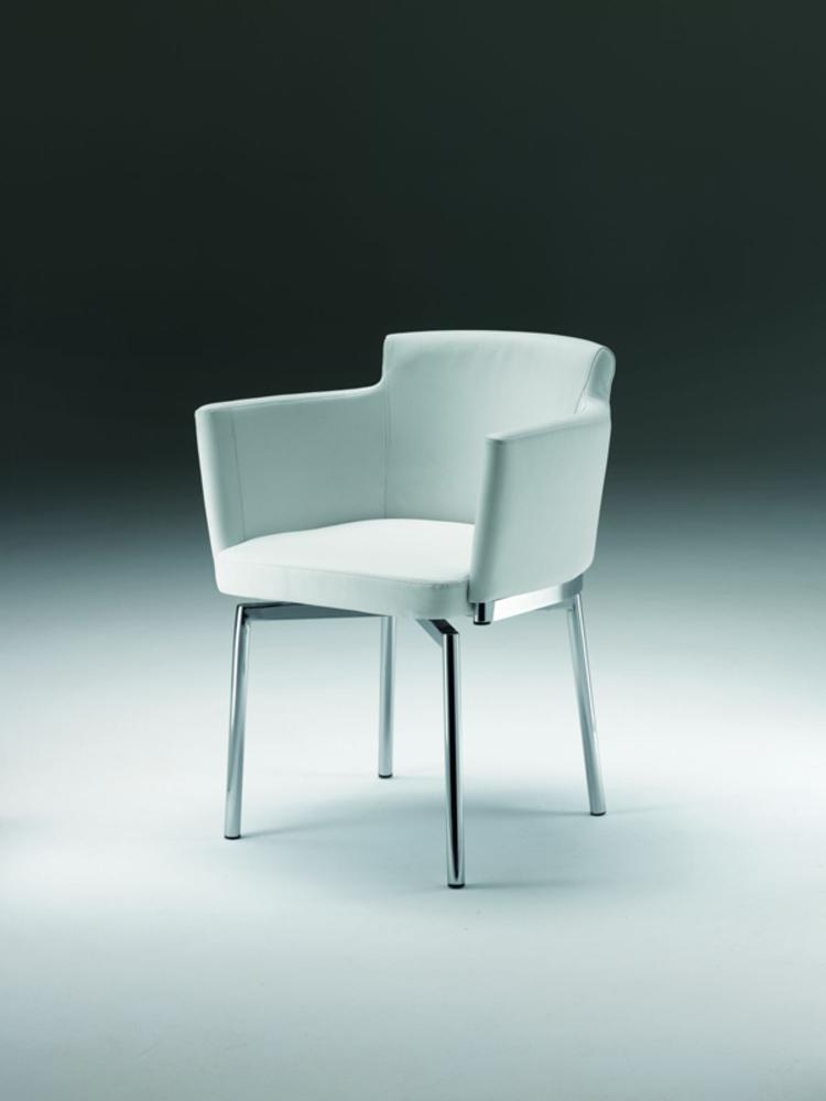 Chaise pivotante jet set blanc for Chaise pivotante