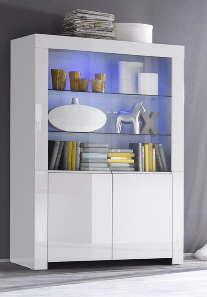 vitrine 4 portes amalfi blanc. Black Bedroom Furniture Sets. Home Design Ideas