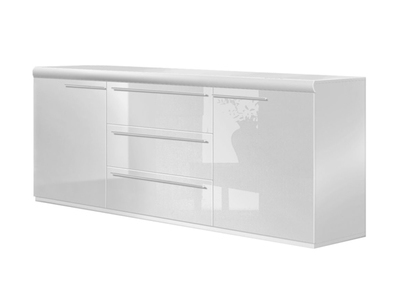 Bahut 2 portes 3 tiroirs White
