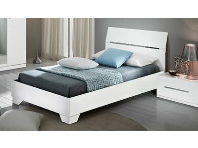 lit gloria blanc blanc l 166 x h 83 x p 208. Black Bedroom Furniture Sets. Home Design Ideas