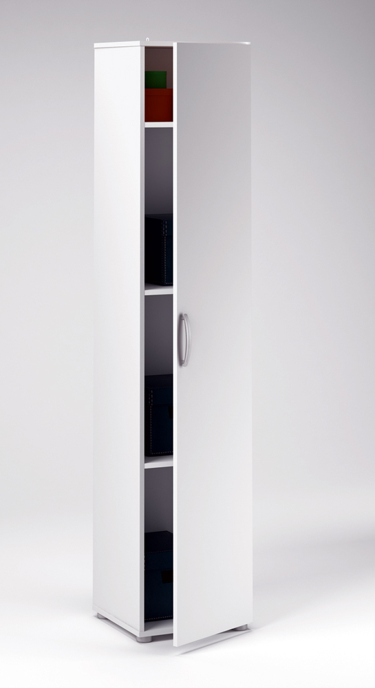 armoire 1 porte cobi blanc. Black Bedroom Furniture Sets. Home Design Ideas
