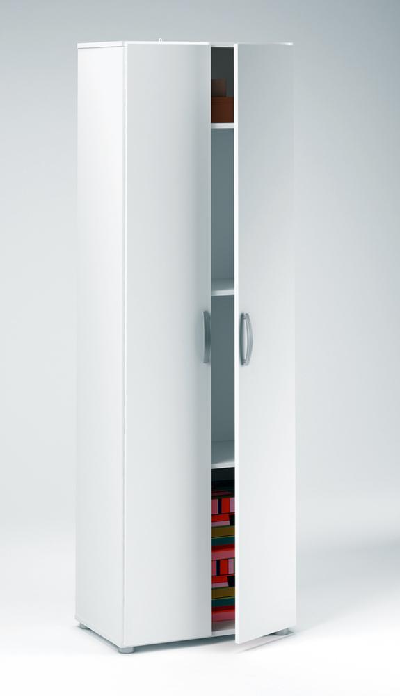 Armoire 2 portes cobi blanc - Meuble armoire chambre ...