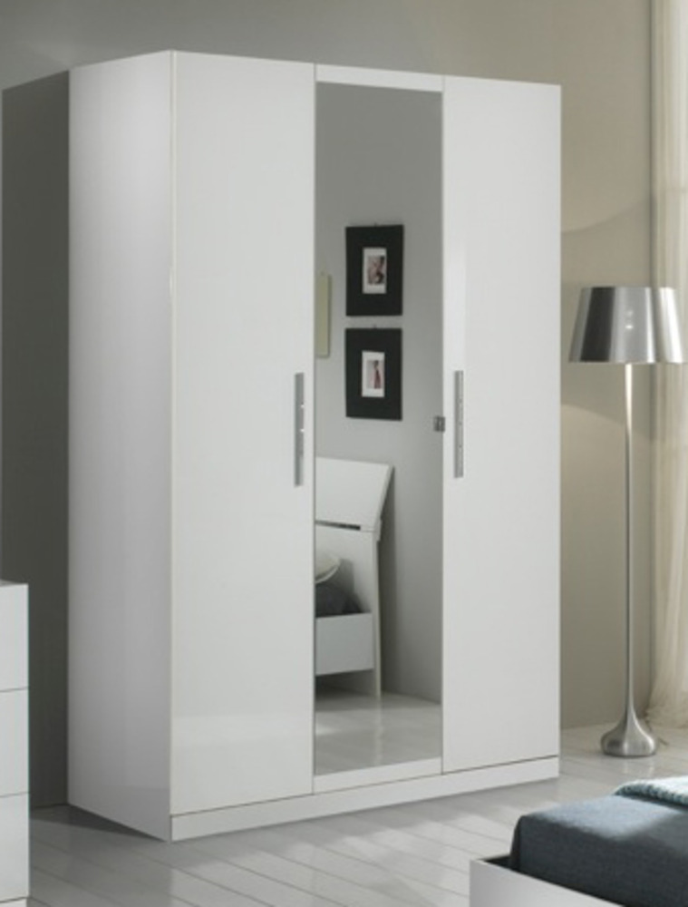 armoire 3 portes gloria blanc. Black Bedroom Furniture Sets. Home Design Ideas