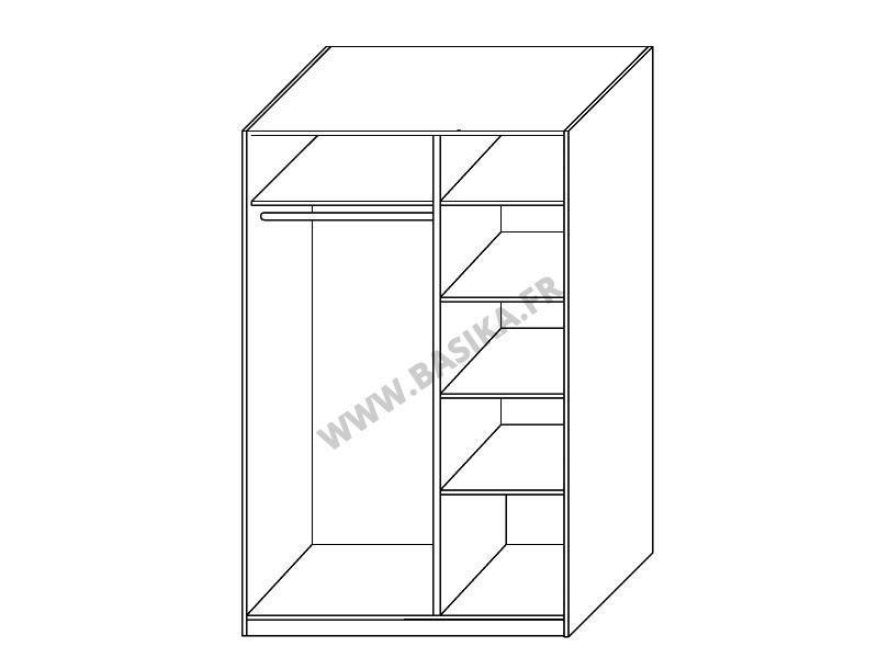 armoire 3 portes gloria laqu e noir. Black Bedroom Furniture Sets. Home Design Ideas