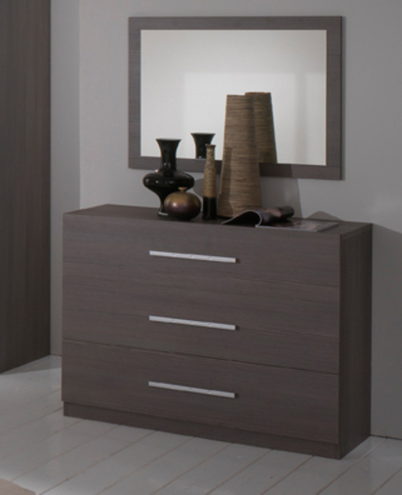 commode 3 tiroirs gloria chene gris. Black Bedroom Furniture Sets. Home Design Ideas