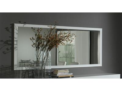 Miroir Pisa laquée bicolore  blanc / gris