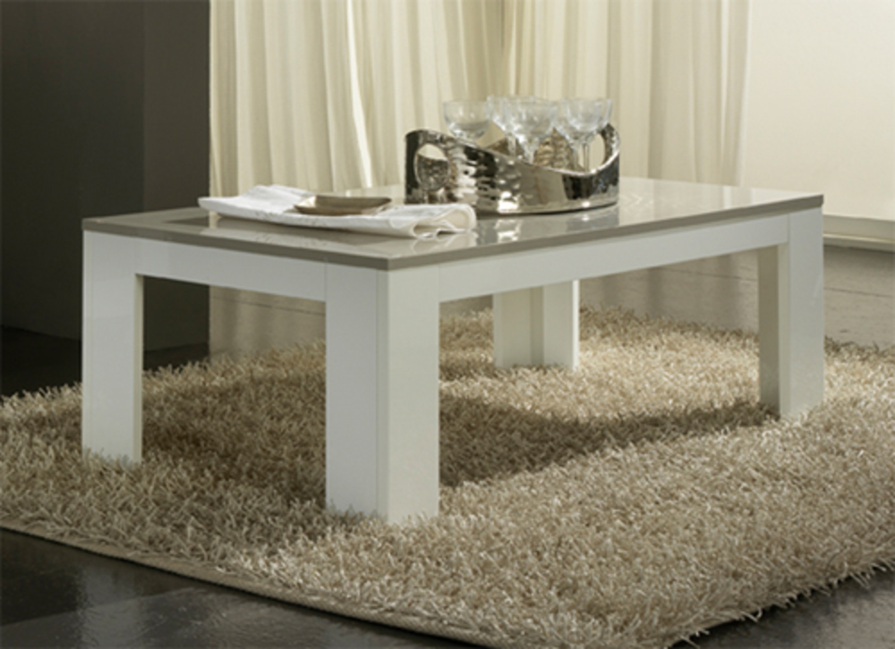 Table a manger gris et blanc laque table manger ciara mdf laqu amp verre t - Table basse blanc gris ...