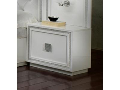 Chevet 1 tiroir Krystel laque blanc