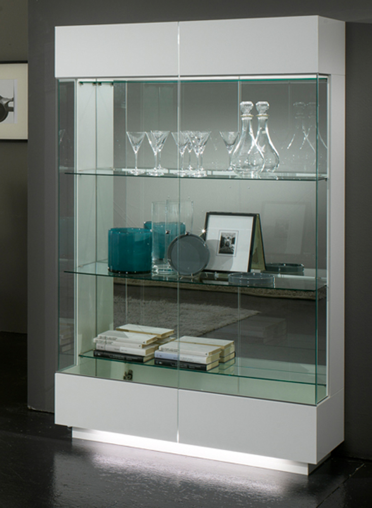 Meuble Vitrine Blanc Stunning Meuble Vitrine Design Blanc Led With