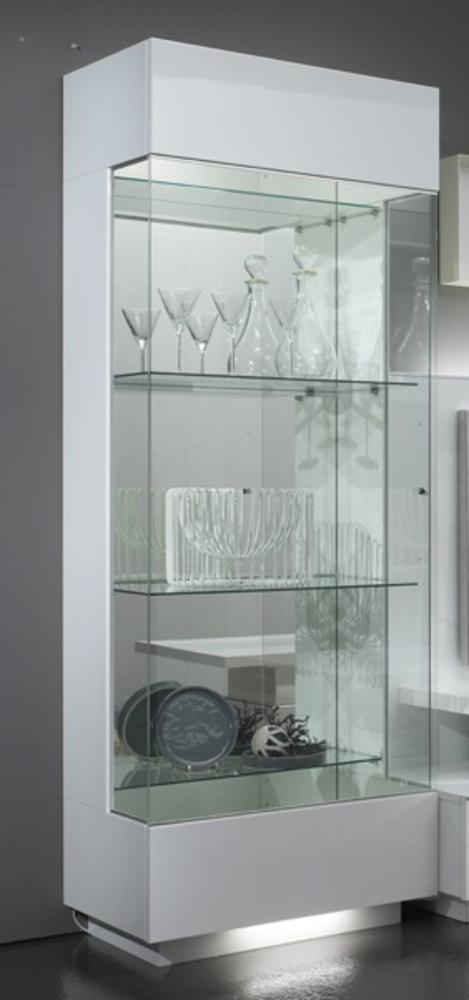 Vitrine Laqué Blanc : vitrine 1 porte lux laque blanc ~ Teatrodelosmanantiales.com Idées de Décoration