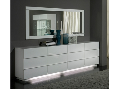 Bahut 3 portes 3 tiroirs Lux laque blanc