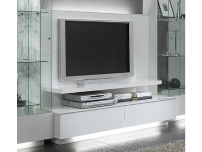Meuble tv plasma Lux laque blanc