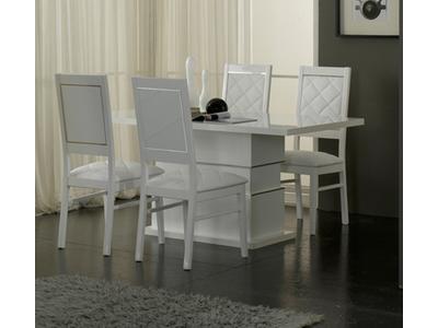 Table de repas Lux laque blanc