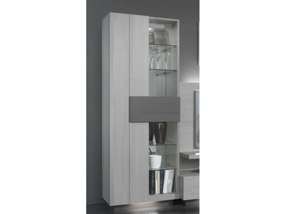 vitrine 1 porte master blanchi. Black Bedroom Furniture Sets. Home Design Ideas