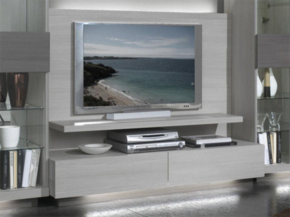 meuble tv plasma master blanchi. Black Bedroom Furniture Sets. Home Design Ideas