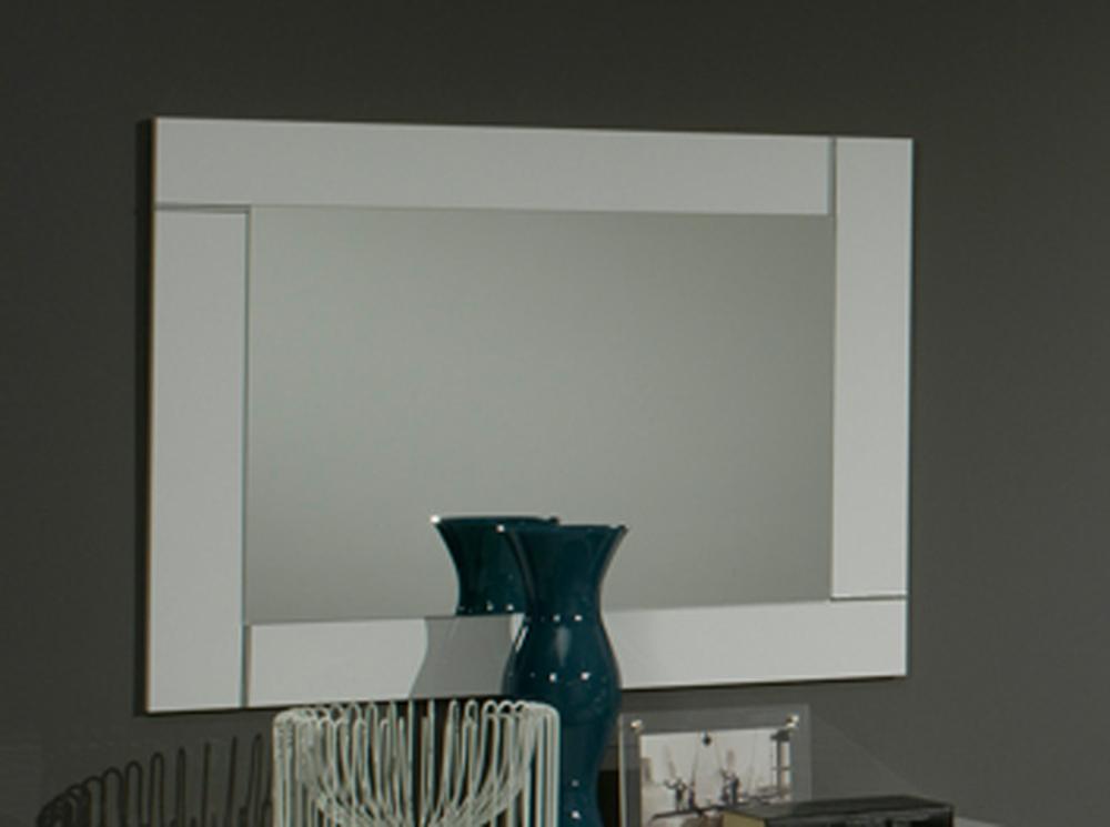 Miroir city laque blanc chambre coucher blanc for Miroir laque blanc