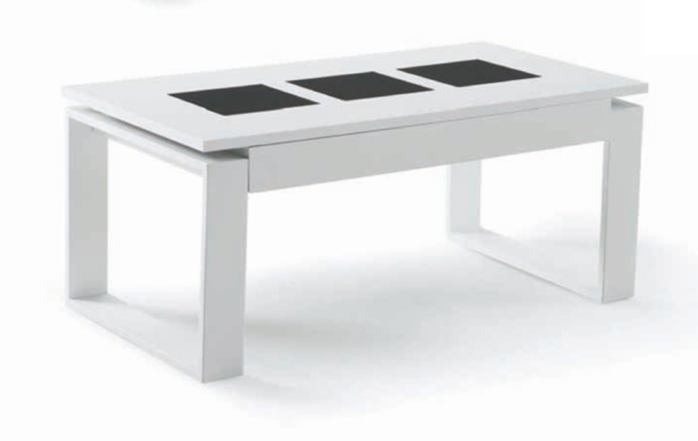 Table basse relevable giorgia blanc for Fabriquer table relevable
