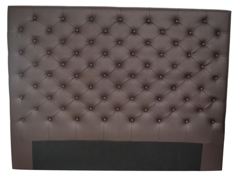 tete de lit domia marron l 160 x h 120 x p 8. Black Bedroom Furniture Sets. Home Design Ideas