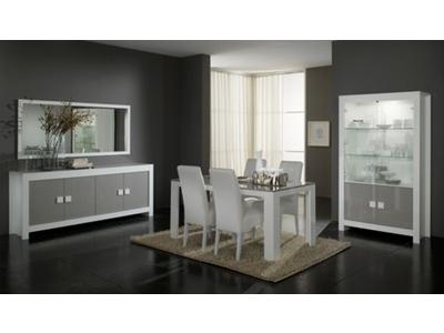 Chaise Pisa laquee bicolore  blanc / gris